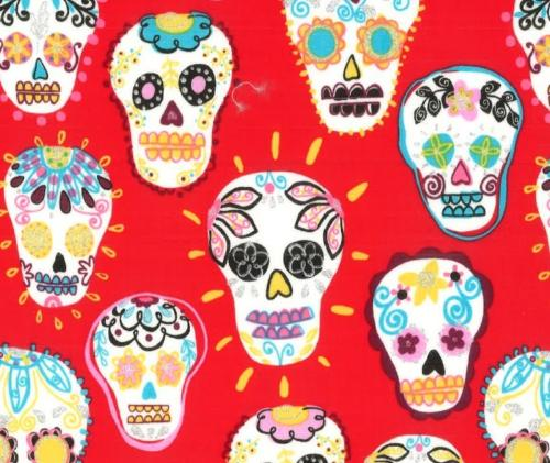 Skeletons with Flowers Red / Calaveritas con Flor Rojo