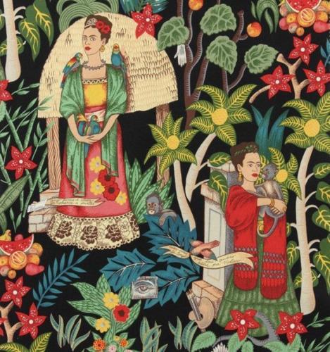 Frida's Garden Black / Jardin de Frida Negro