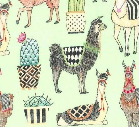 Green Llamas / Llamas Verdes