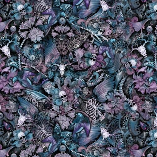 Arte-de-Calaveras-Morado / Purple Skull Art